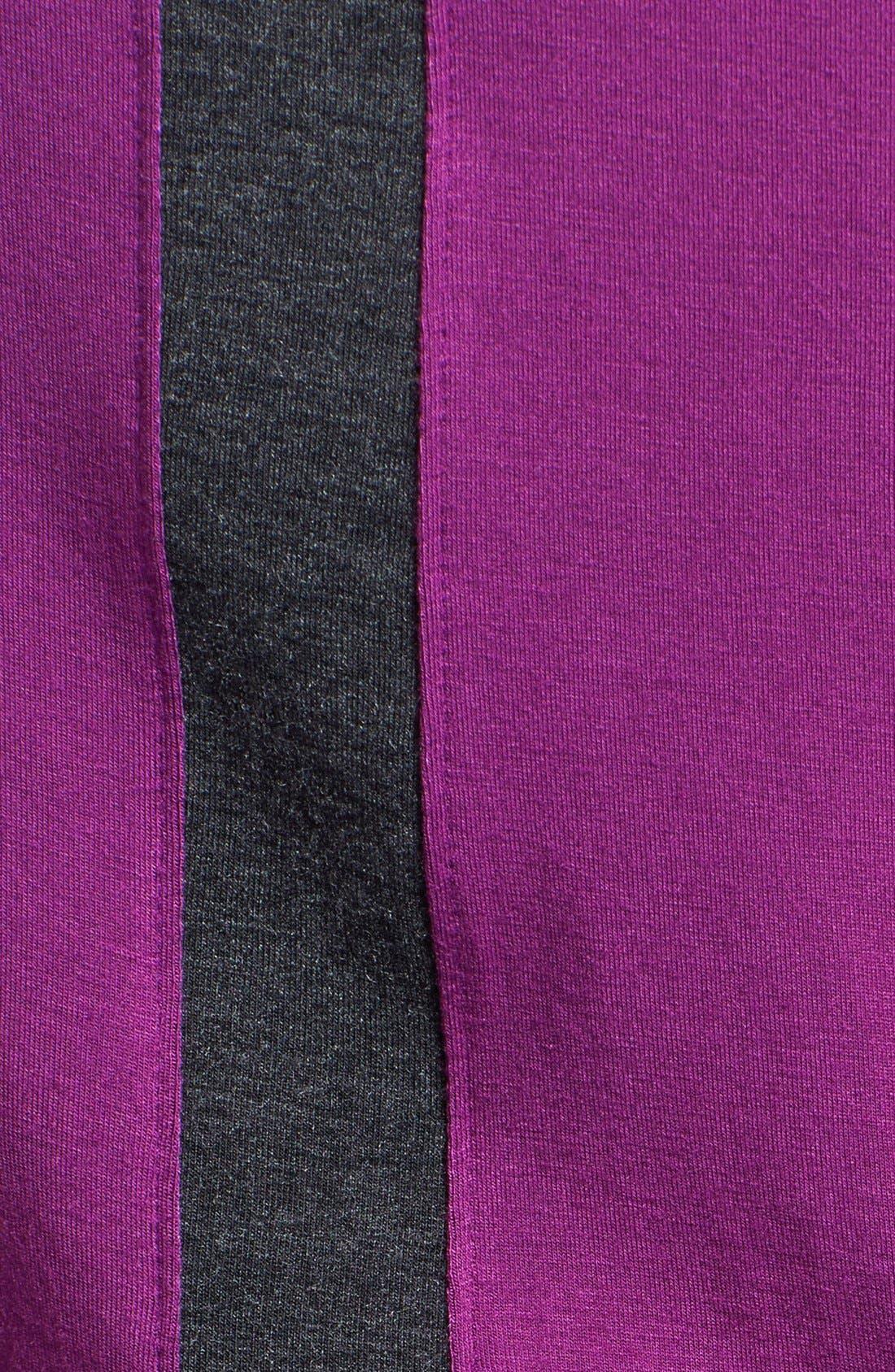 Contrast Stripe Racerback Maxi Dress,                             Alternate thumbnail 3, color,                             Purple Phlox/ Heather Charcoal