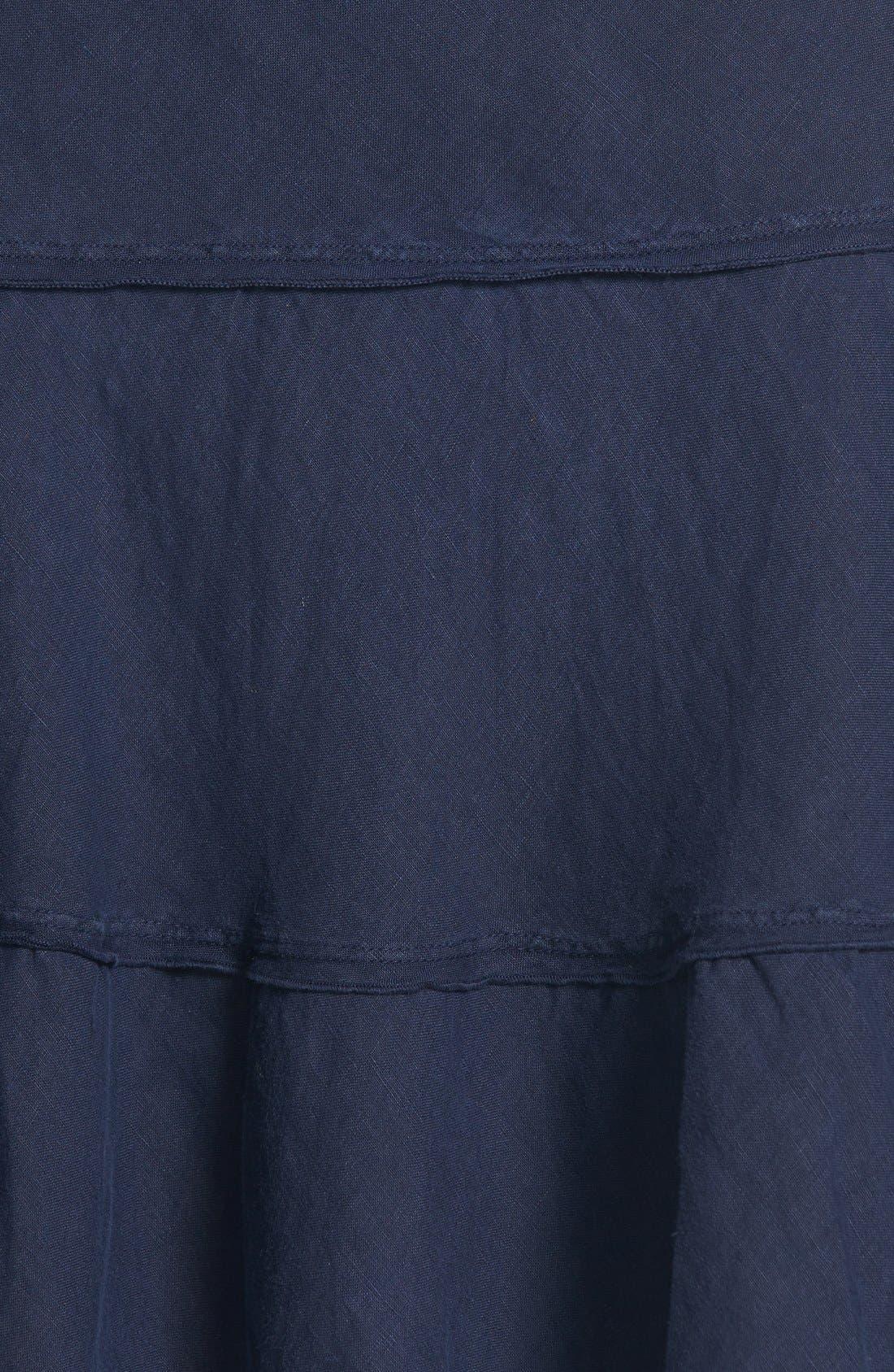 Alternate Image 3  - Caslon® Drawstring Waist Tiered Linen Skirt (Regular & Petite)