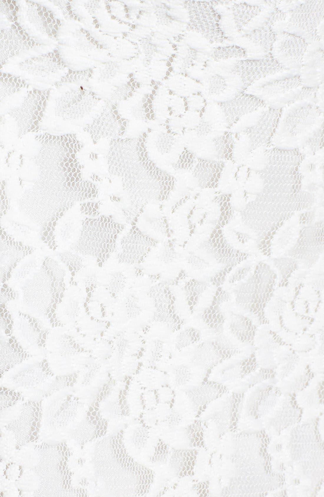 Alternate Image 3  - Socialite Floral Lace Camisole (Juniors)