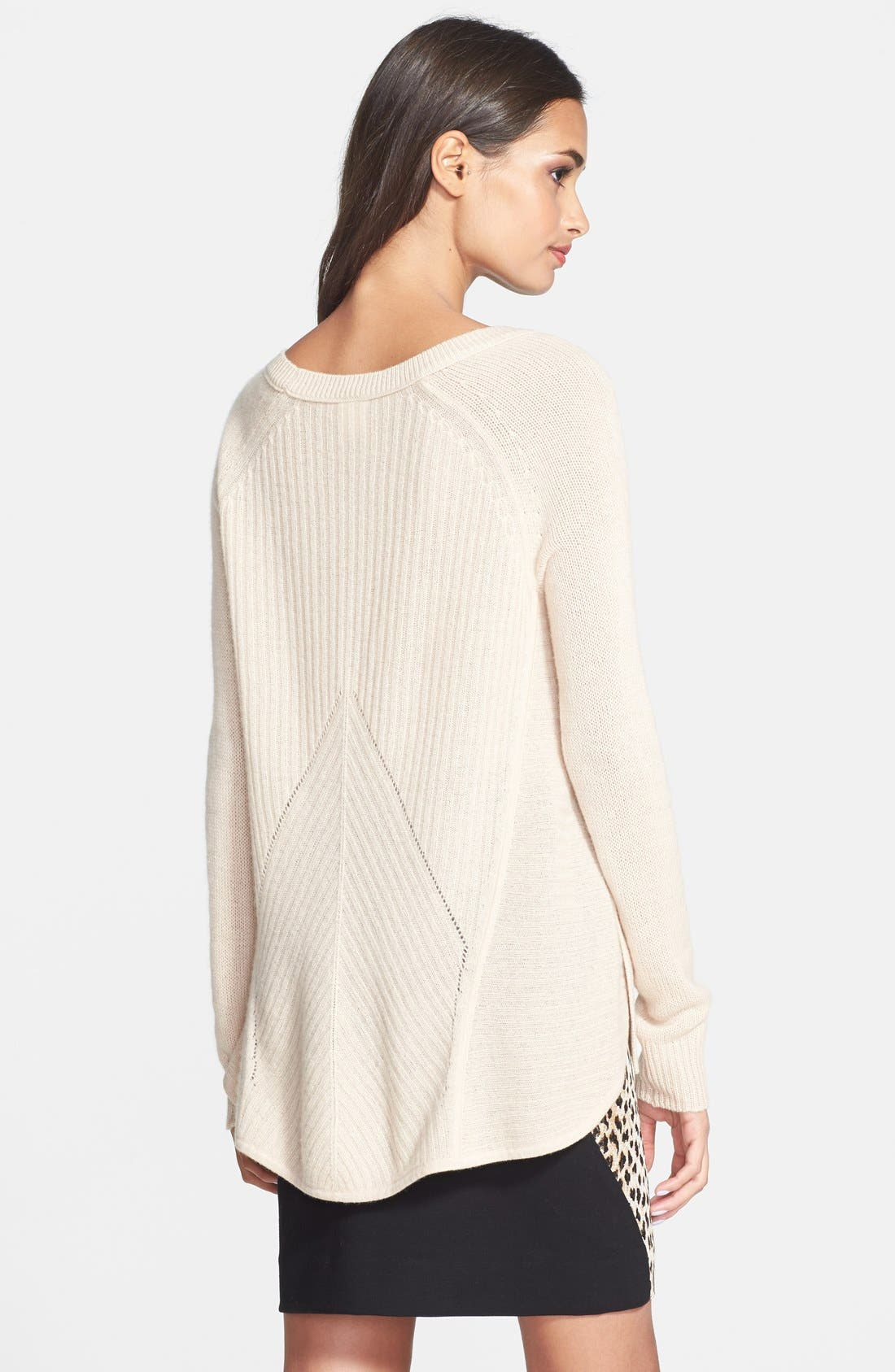 Alternate Image 2  - Diane von Furstenberg 'Ivory' High/Low Cashmere Sweater