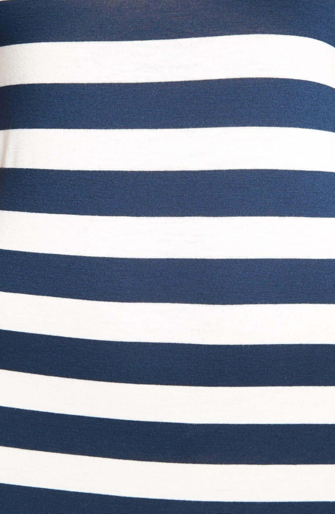 Alternate Image 3  - Everleigh Multi Stripe Short Sleeve Maxi Dress (Regular & Petite)