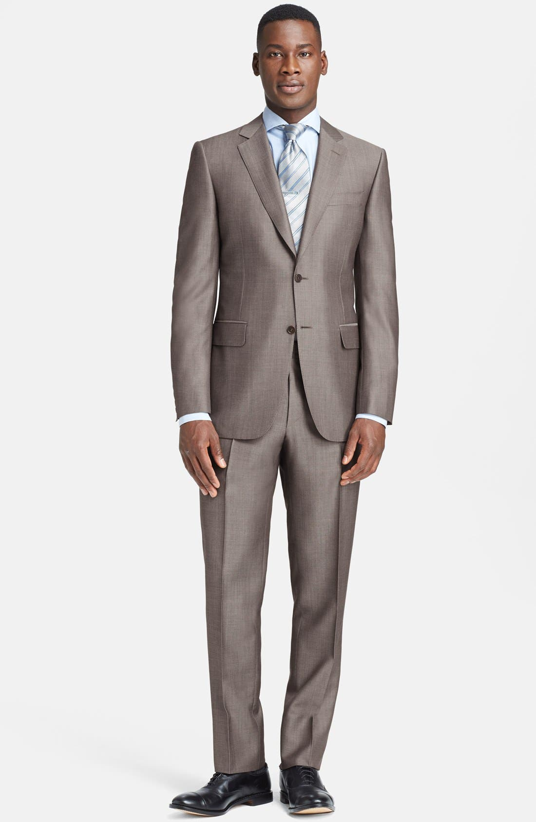 Alternate Image 1 Selected - Canali Classic Fit Wool & Mohair Suit