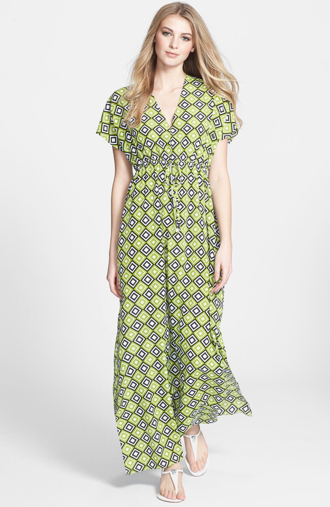 Alternate Image 1 Selected - MICHAEL Michael Kors Retro Print Long Dress