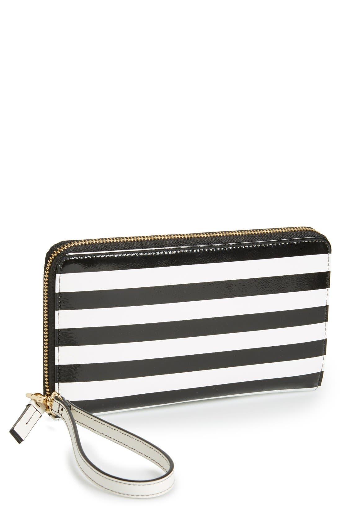 Main Image - Halogen® Stripe Zip Around Wallet