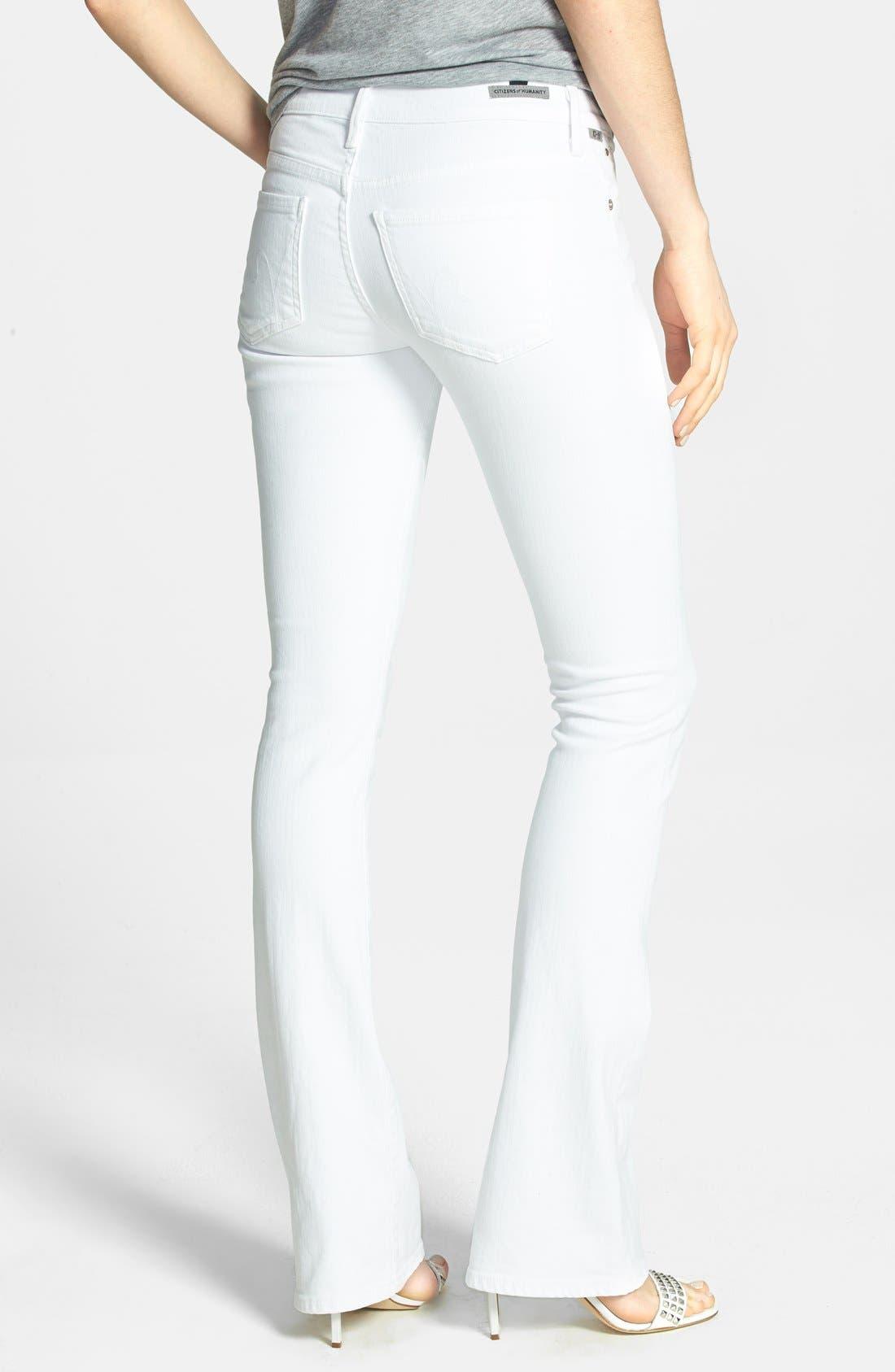 'Emannuelle' Slim Bootcut Jeans,                             Alternate thumbnail 2, color,                             Optic White