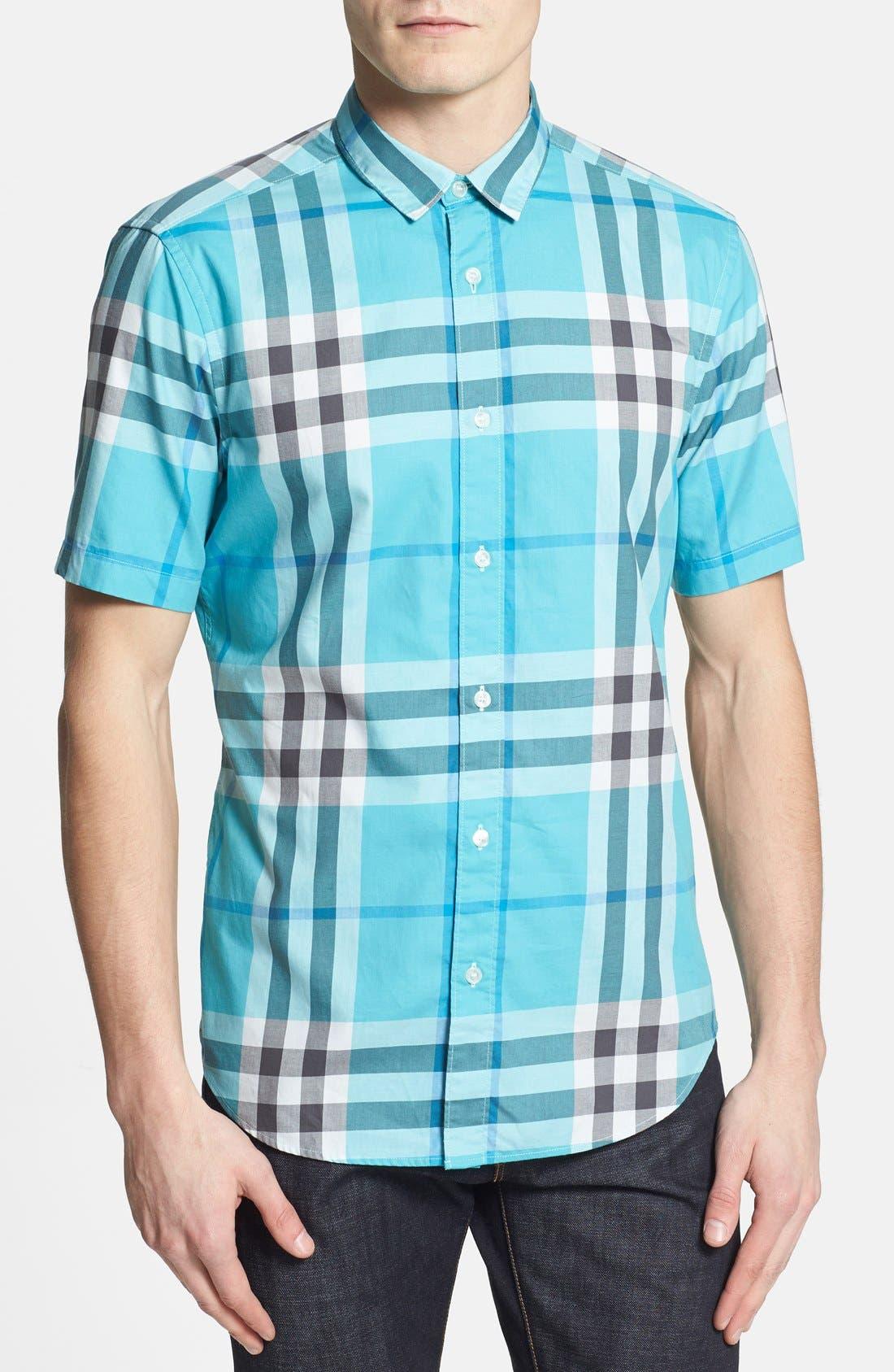 Alternate Image 1 Selected - Burberry Brit 'Rhys' Short Sleeve Sport Shirt