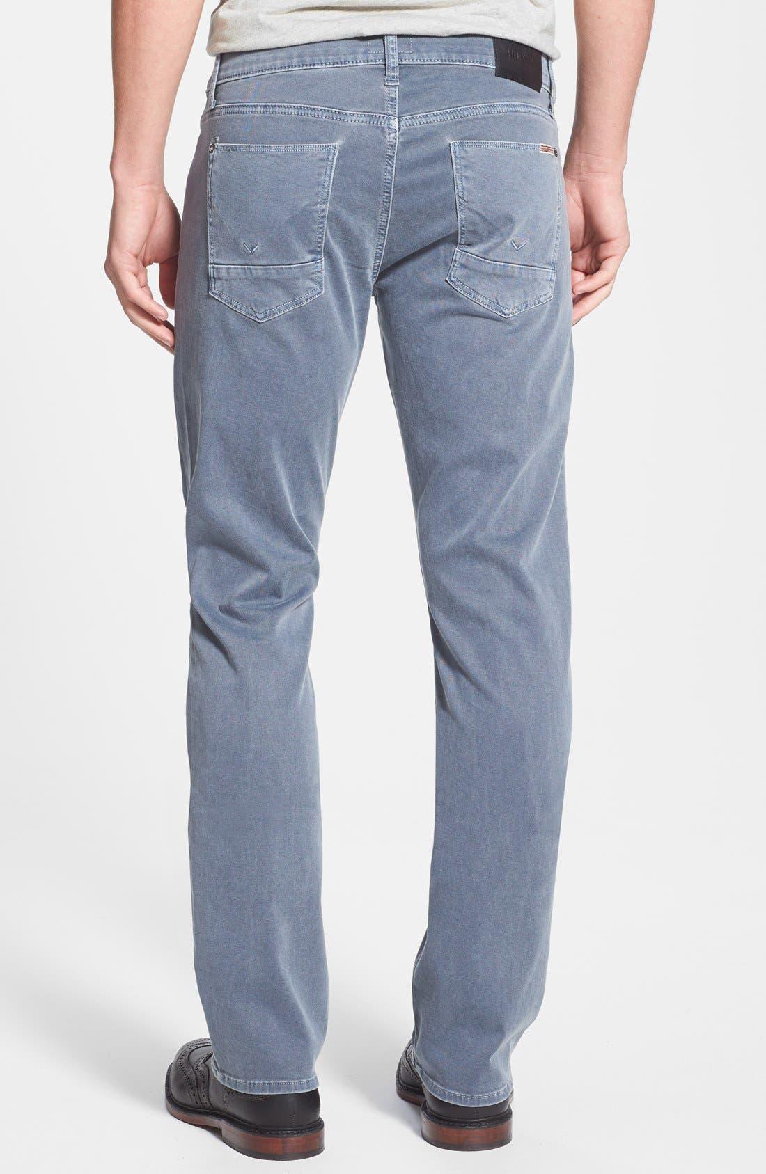 Alternate Image 2  - Hudson Jeans 'Byron' Straight Leg Jeans (Sunfaded Petrol)