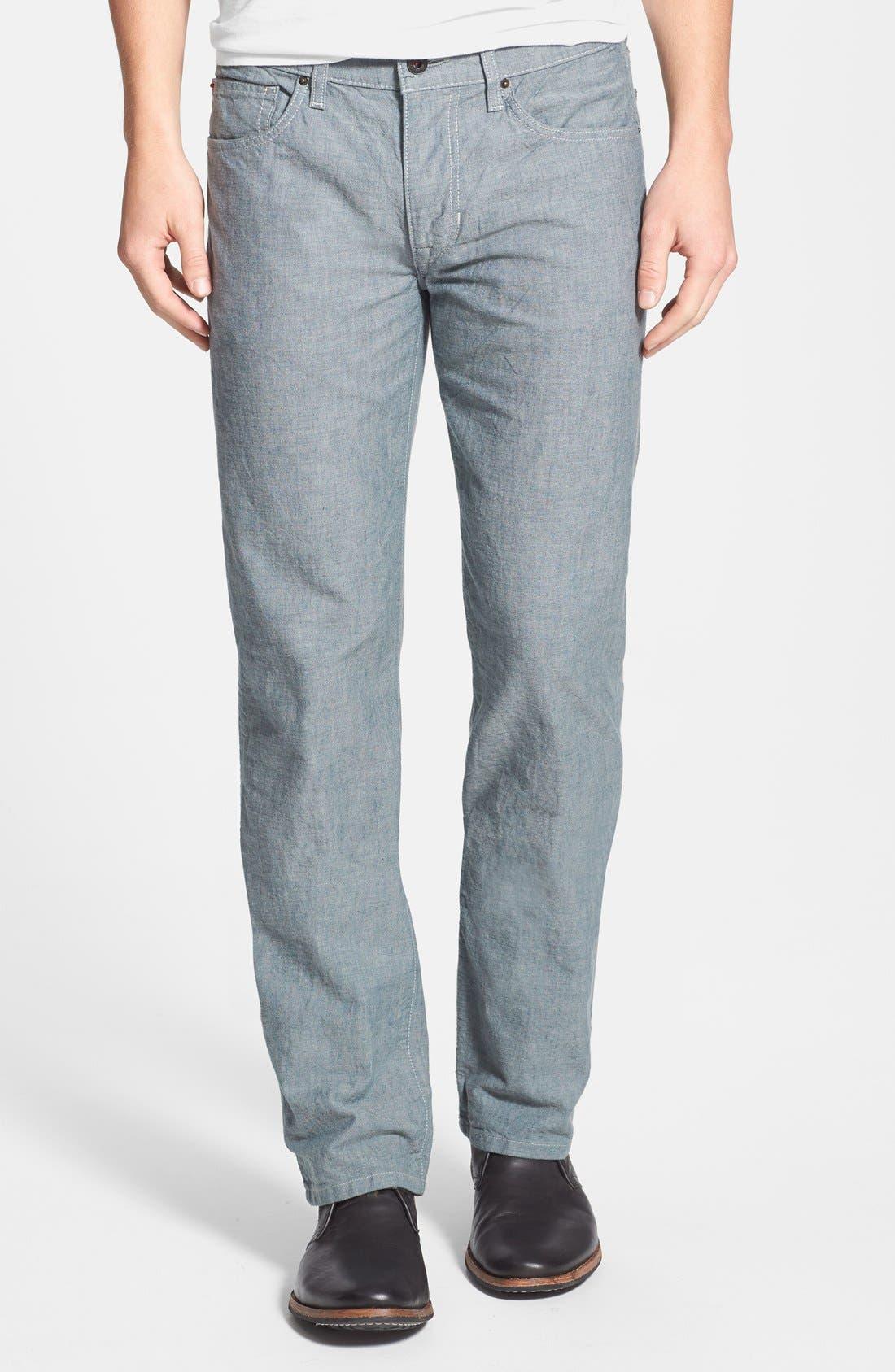 Alternate Image 1 Selected - Joe's 'Brixton' Slim Fit Canvas Denim Jeans (Sidewalk)