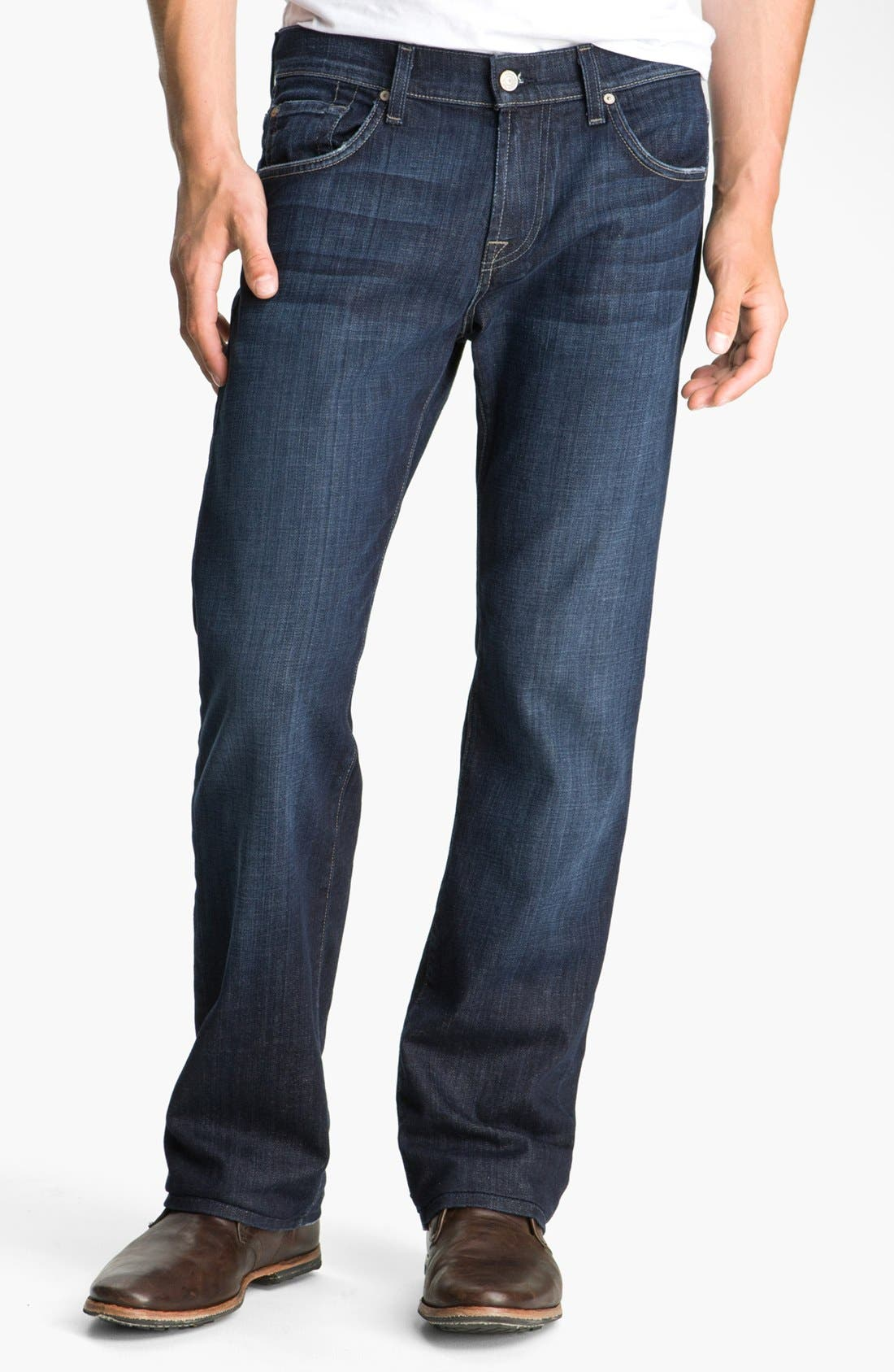 Alternate Image 1 Selected - 7 For All Mankind® 'Austyn' Relaxed Straight Leg Jeans (Los Angeles Dark) (Tall)