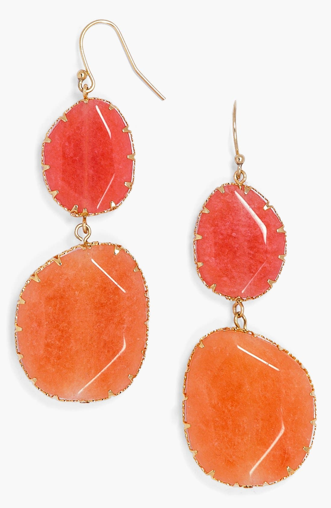 'Boho' Drop Earrings,                         Main,                         color, Coral/ Gold