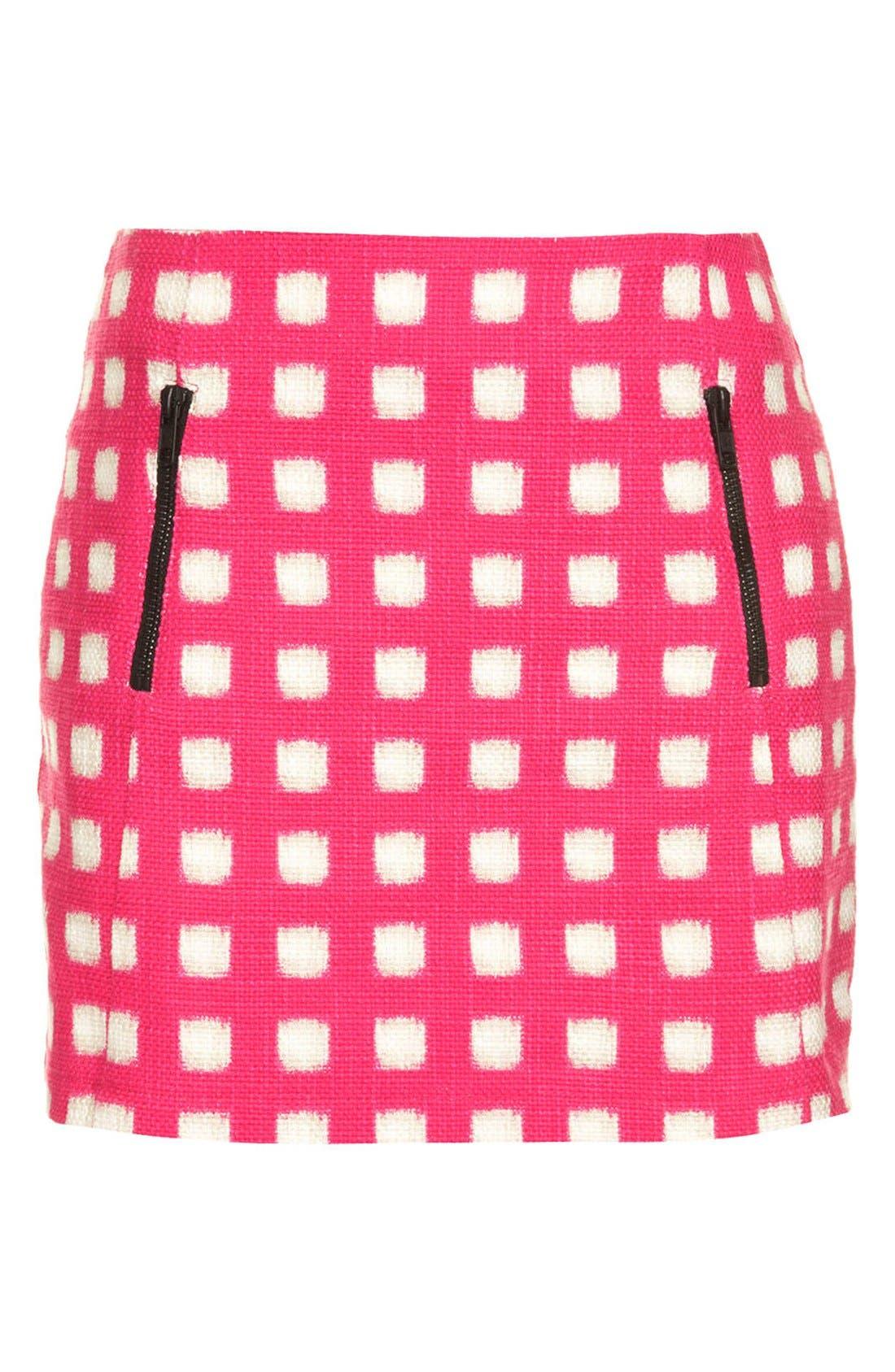 Alternate Image 3  - Topshop Grid Print Cotton Miniskirt