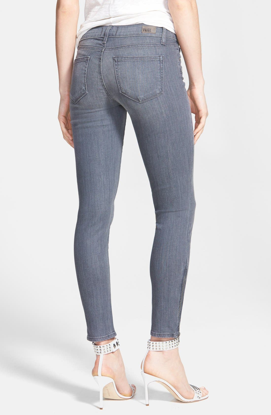 Alternate Image 2  - Paige Denim 'Verdugo' Zip Cuff Skinny Ankle Jeans (Hart)