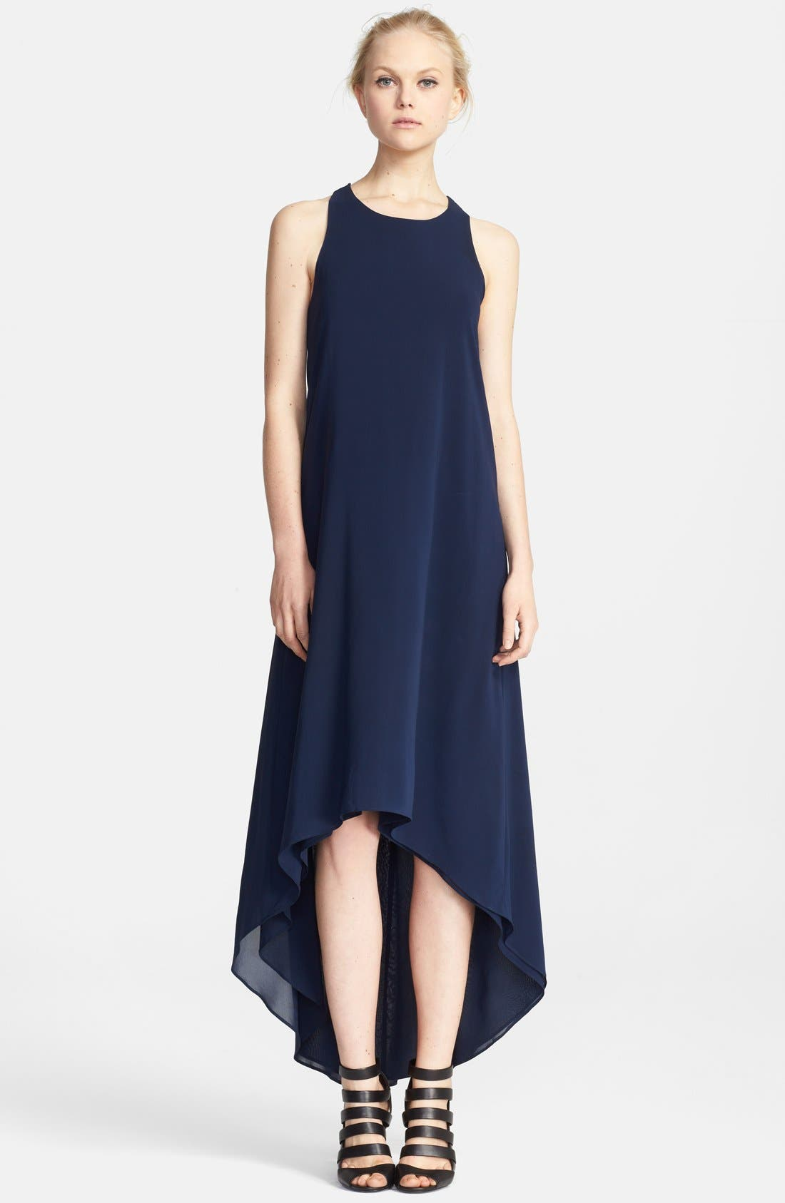 Alternate Image 1 Selected - Alice + Olivia Twisted Back High/Low Dress