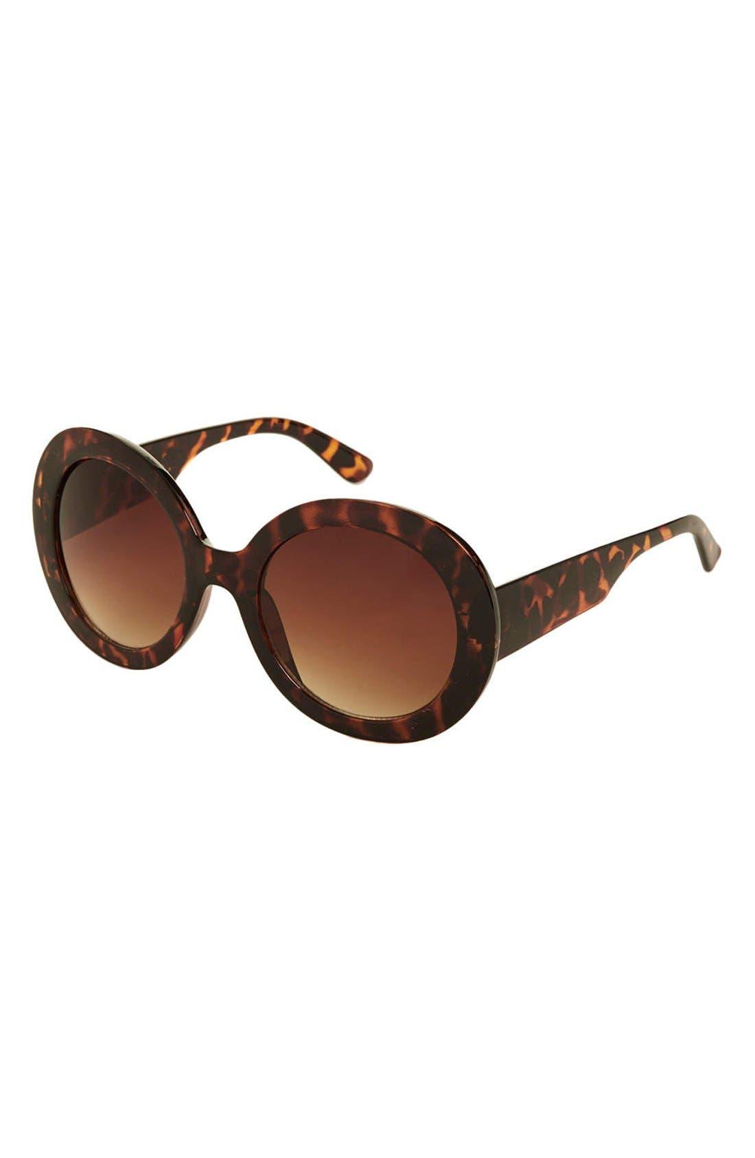 Main Image - Topshop 'Petra' 54mm Oversized Round Sunglasses