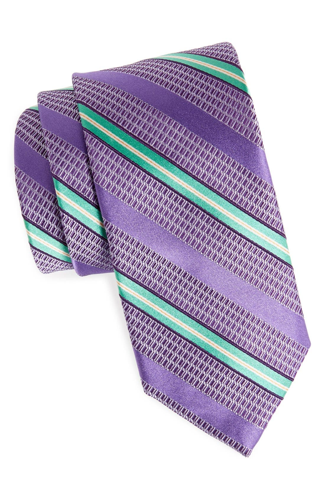 Woven Silk Tie,                             Main thumbnail 1, color,                             Purple