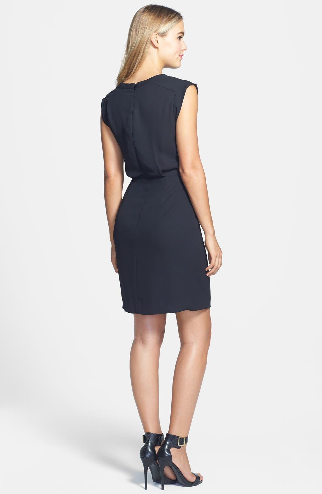 Alternate Image 2  - Vince Camuto Laser Cut Dress