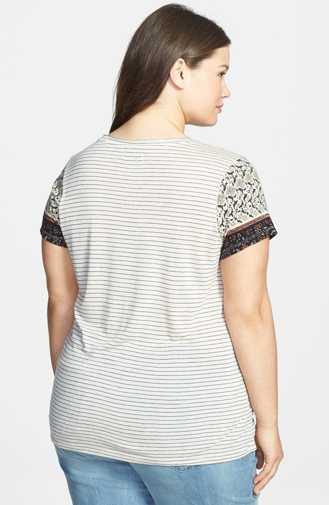 Alternate Image 2  - Lucky Brand 'Indian Palace' Tee (Plus Size)