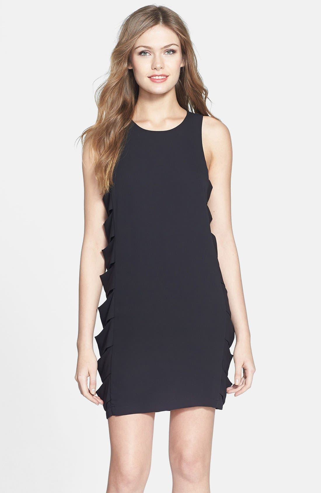 Alternate Image 1 Selected - BCBGMAXAZRIA 'Eren' Side Slash Georgette Dress