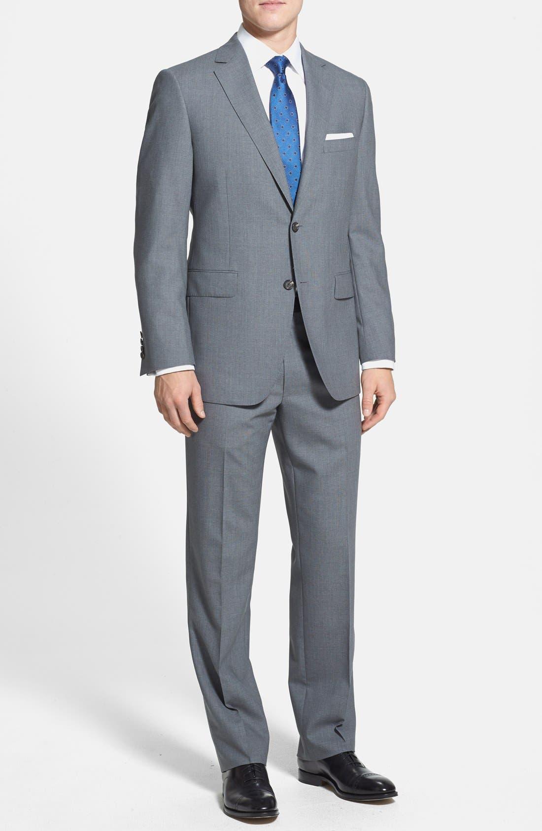 Alternate Image 1 Selected - Samuelsohn Classic Fit Wool Suit