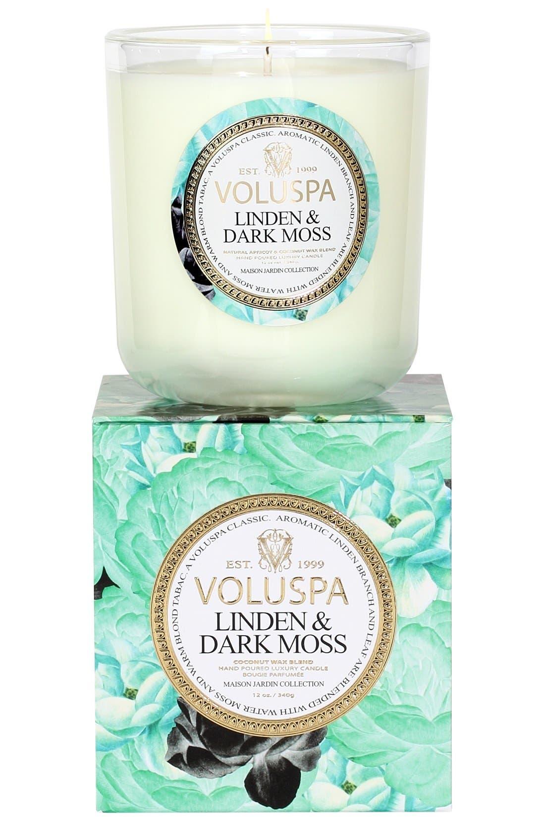 Main Image - Voluspa 'Maison Jardin - Linden & Dark Moss' Scented Candle