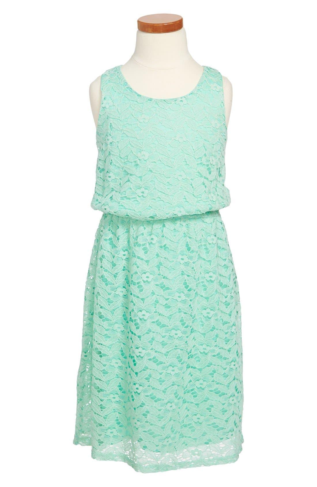 Main Image - Soprano Sleeveless Lace Dress (Little Girls & Big Girls)