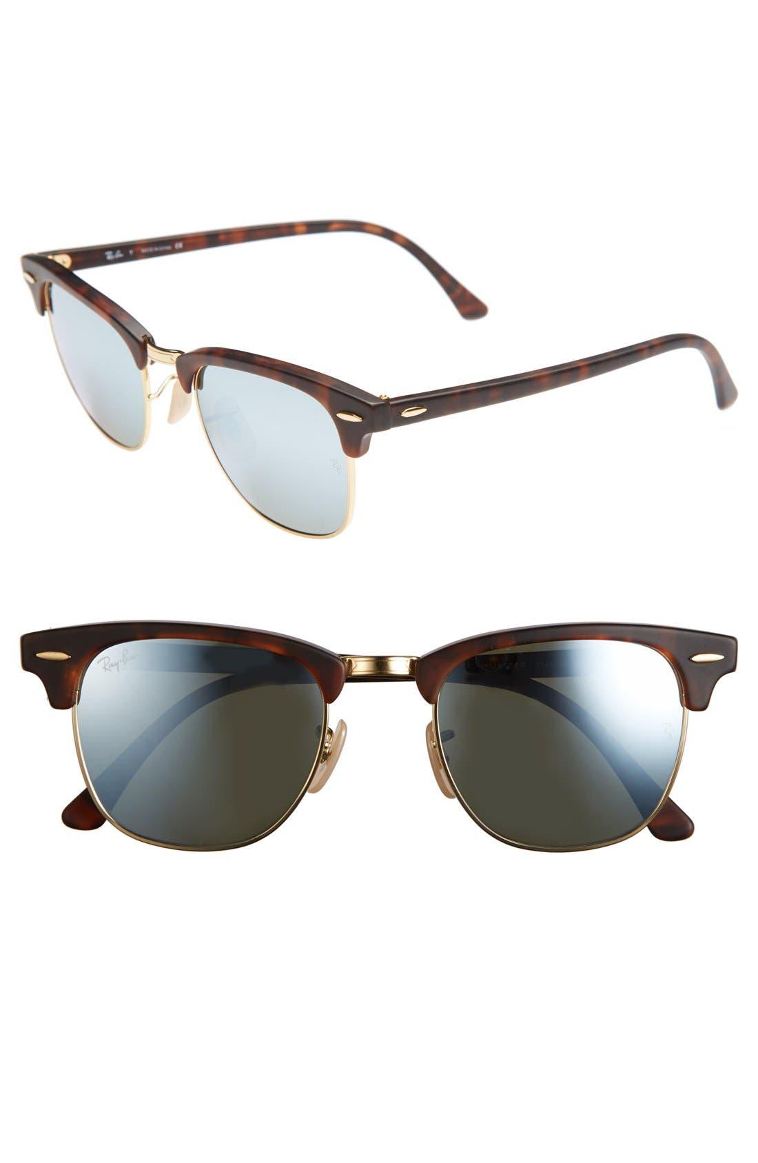 Main Image - Ray-Ban 'Clubmaster' 49mm Polarized Sunglasses