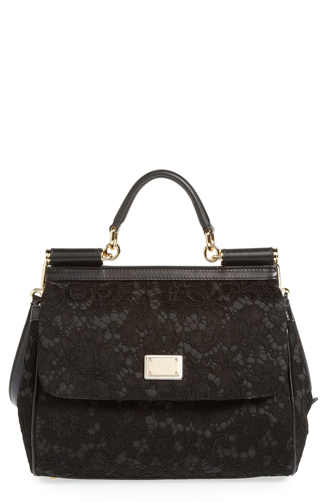 Main Image - Dolce&Gabbana 'Small Miss Sicily' Top Handle Satchel