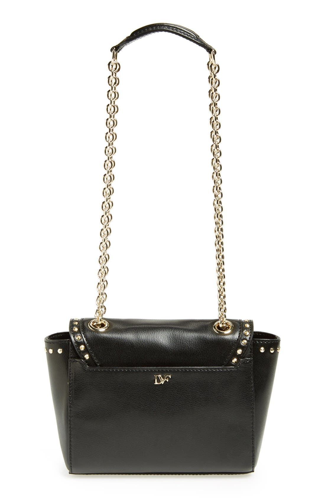 Alternate Image 4  - Diane Von Furstenberg '440 - Mini' Stud Leather Crossbody Bag