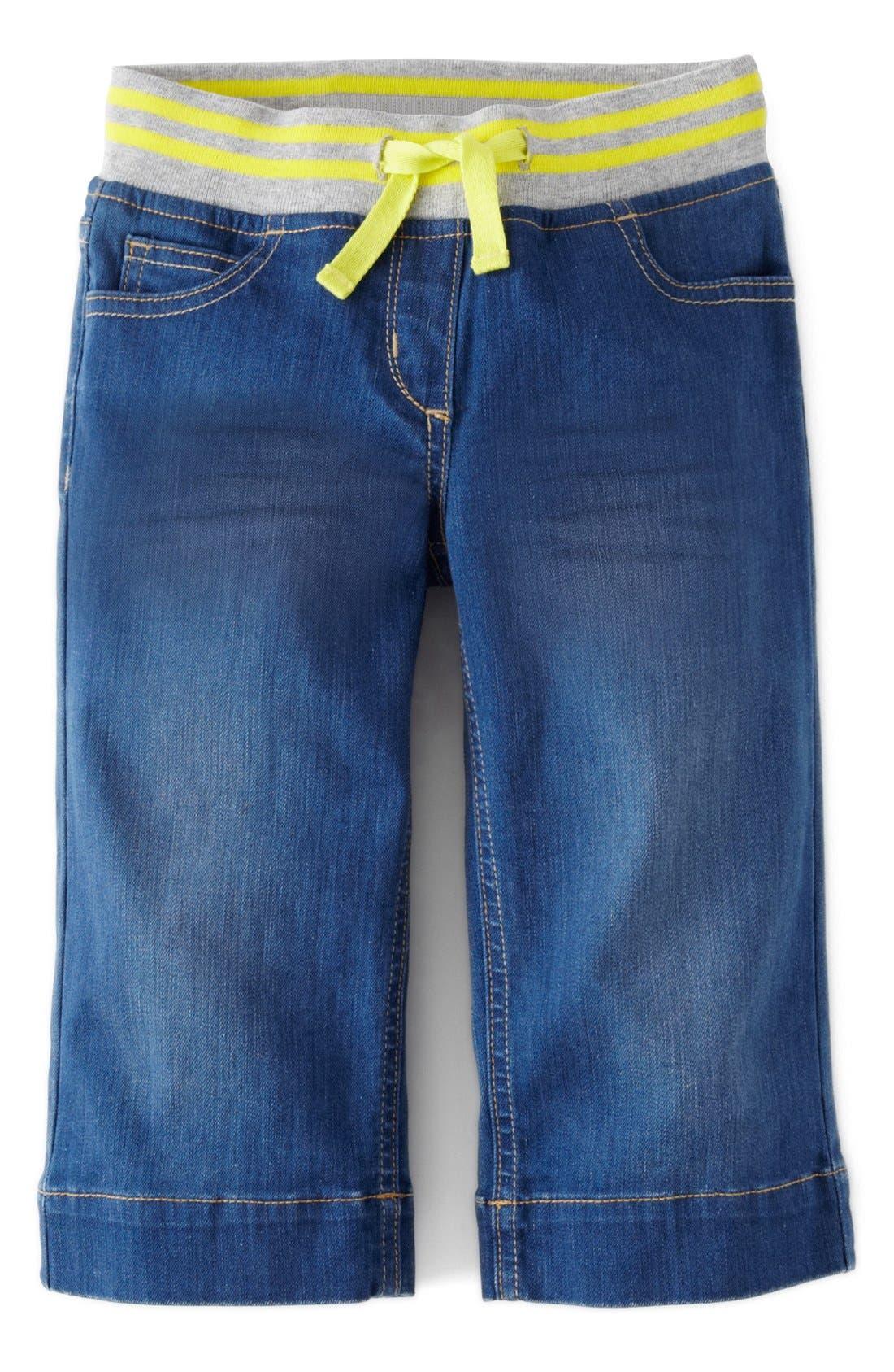 Main Image - Mini Boden Rib Waist 'Sailor' Trousers (Toddler Girls)