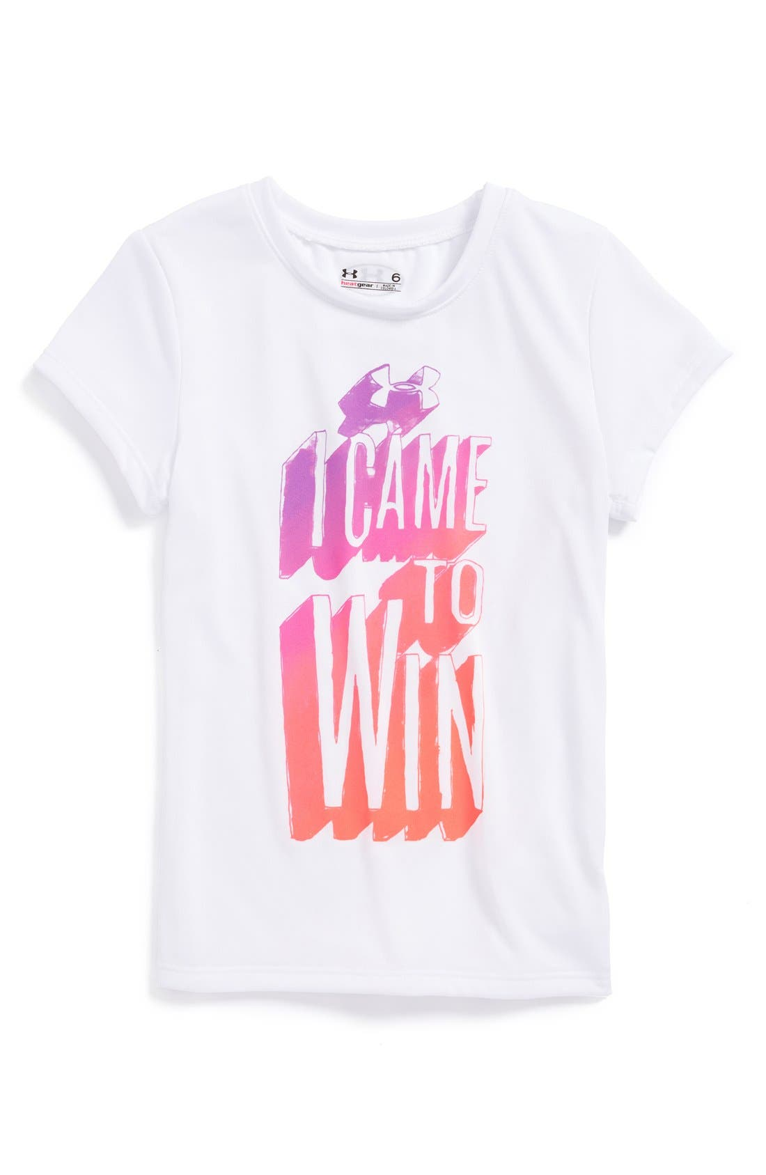 Main Image - Under Armour 'I Came to Win' Tee (Little Girls)