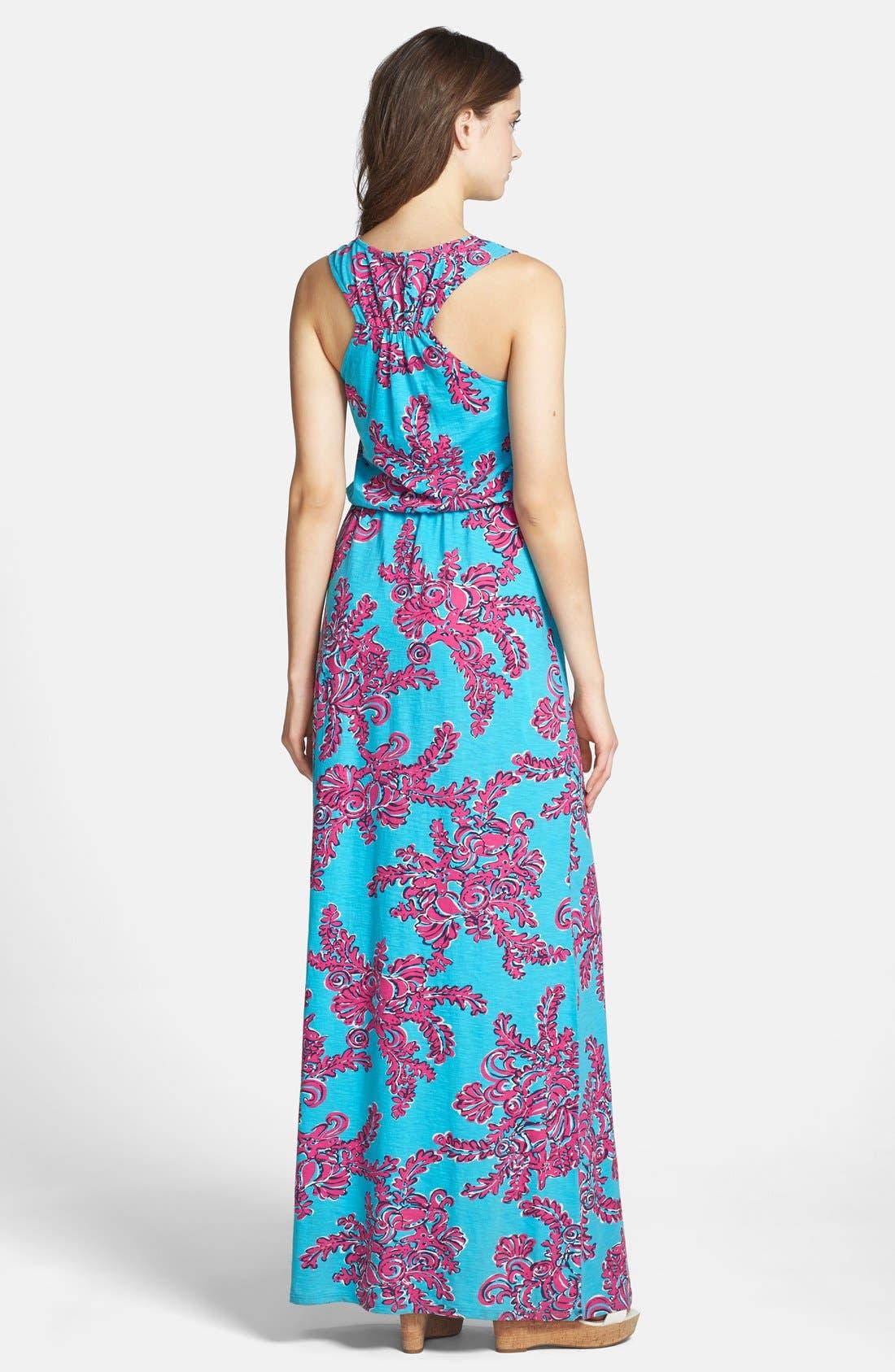 Alternate Image 2  - Lilly Pulitzer® Print Blouson Cotton Maxi Dress