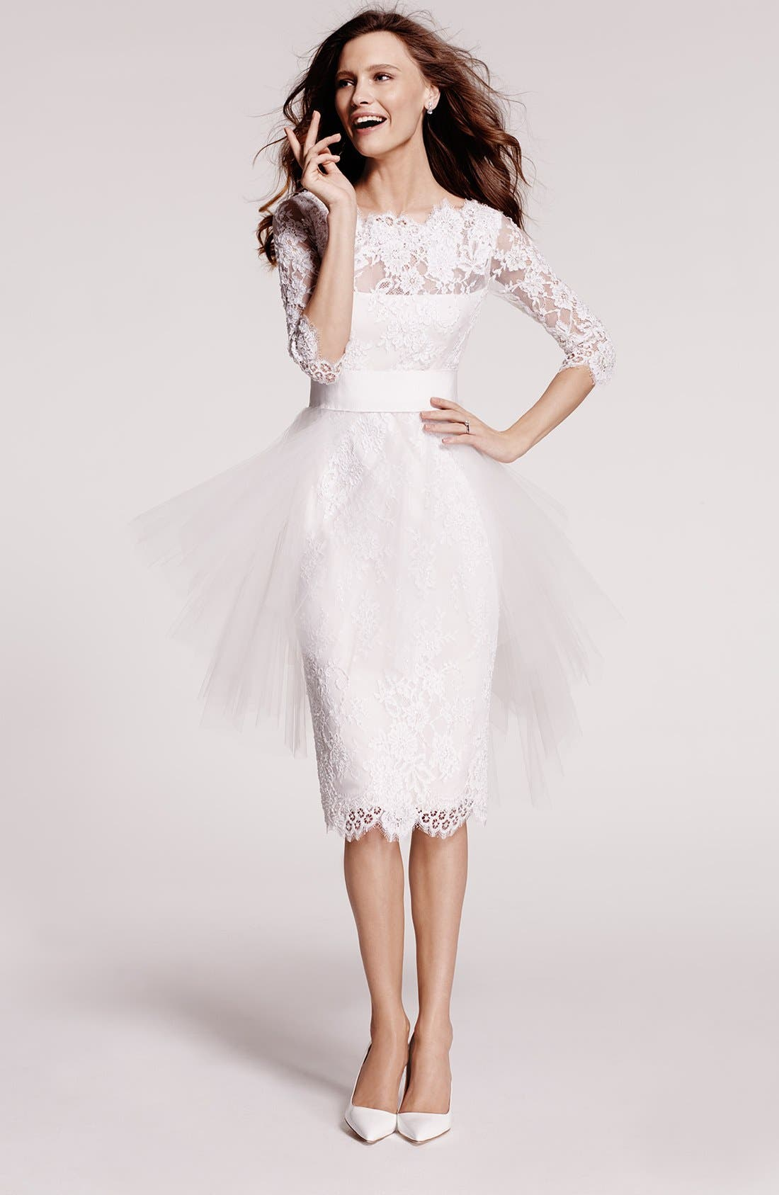 Alternate Image 6  - Marchesa Tulle Overskirt Embroidered Lace Dress (In Stores Only)