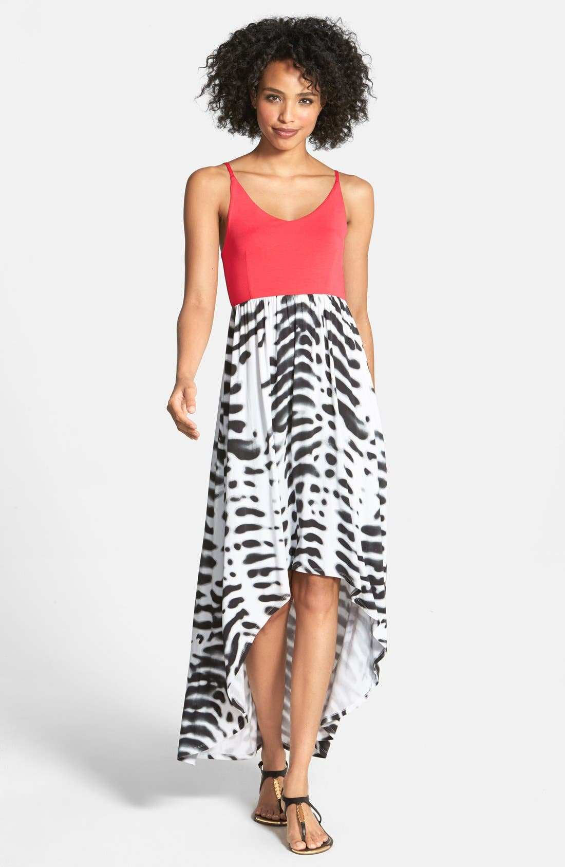 Main Image - Felicity & Coco Jersey High/Low Maxi Dress (Nordstrom Exclusive)