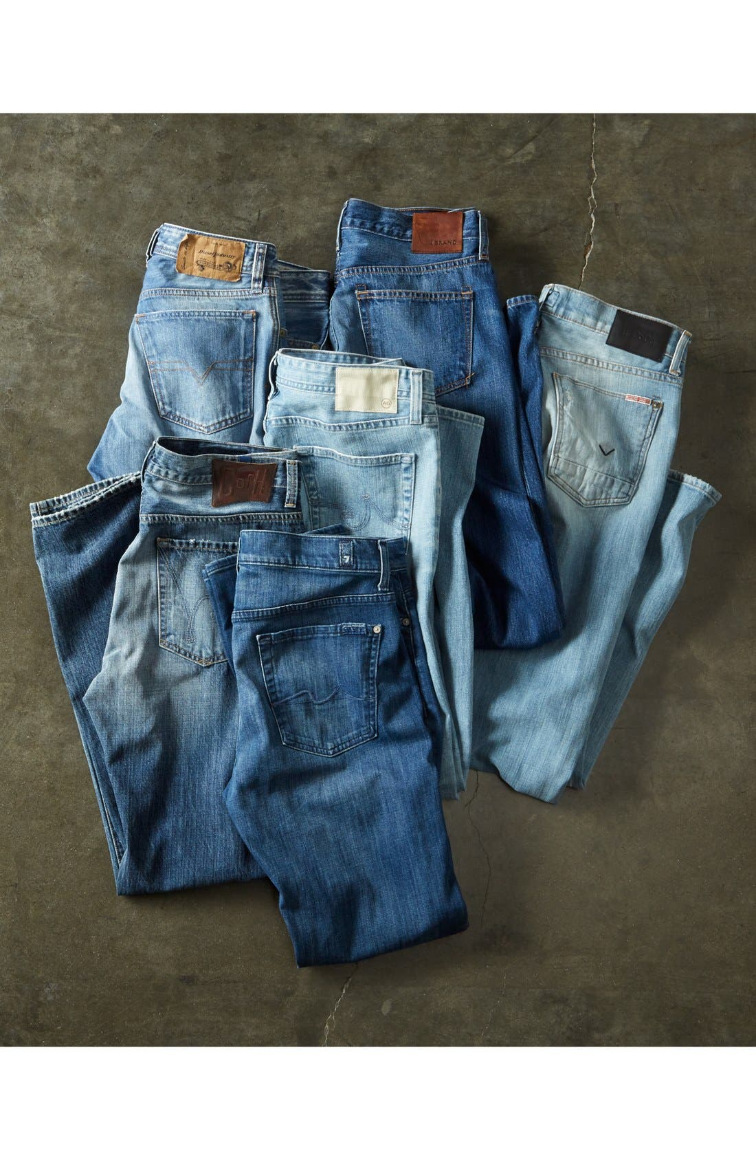 Alternate Image 5  - 7 For All Mankind® 'Standard' Straight Leg Jeans (Washed Out)