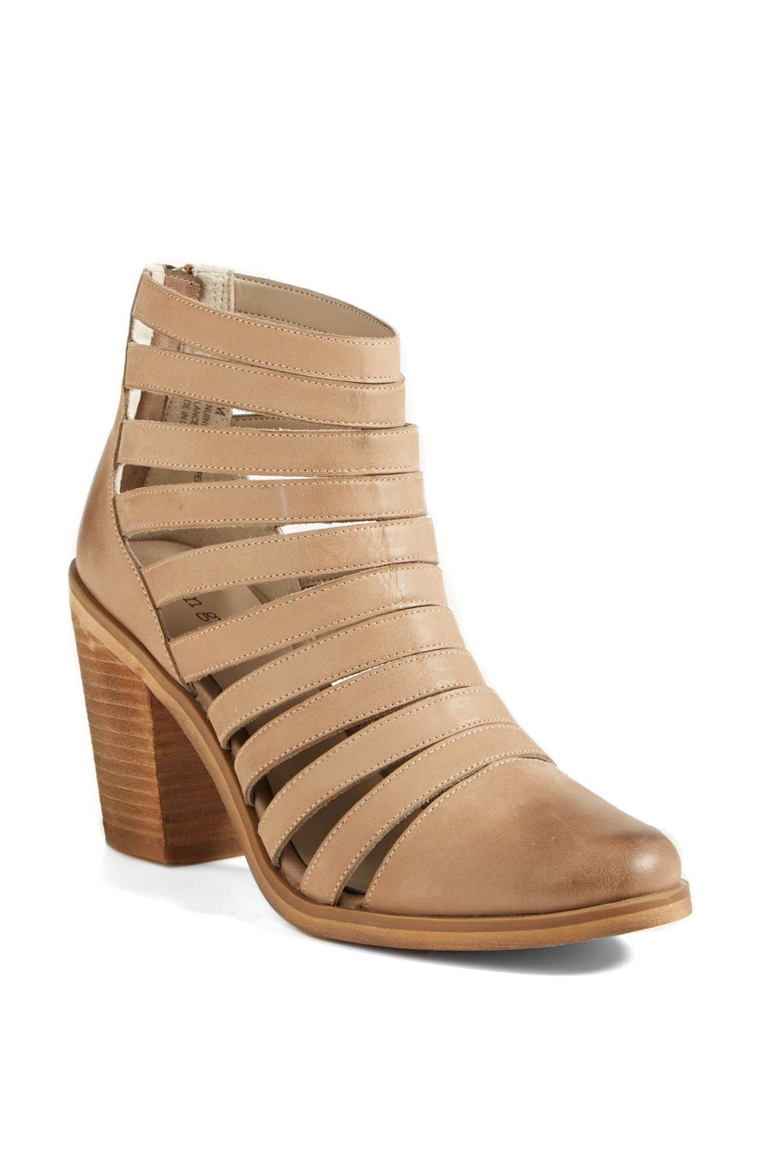 Main Image - Hinge 'Dresden' Caged Leather Bootie (Women)