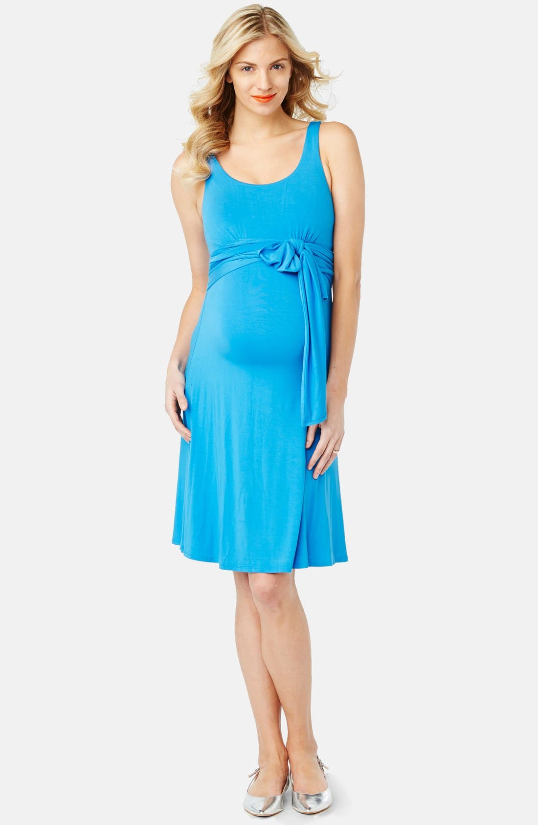 'Best' Maternity Dress,                             Main thumbnail 1, color,                             Catalina