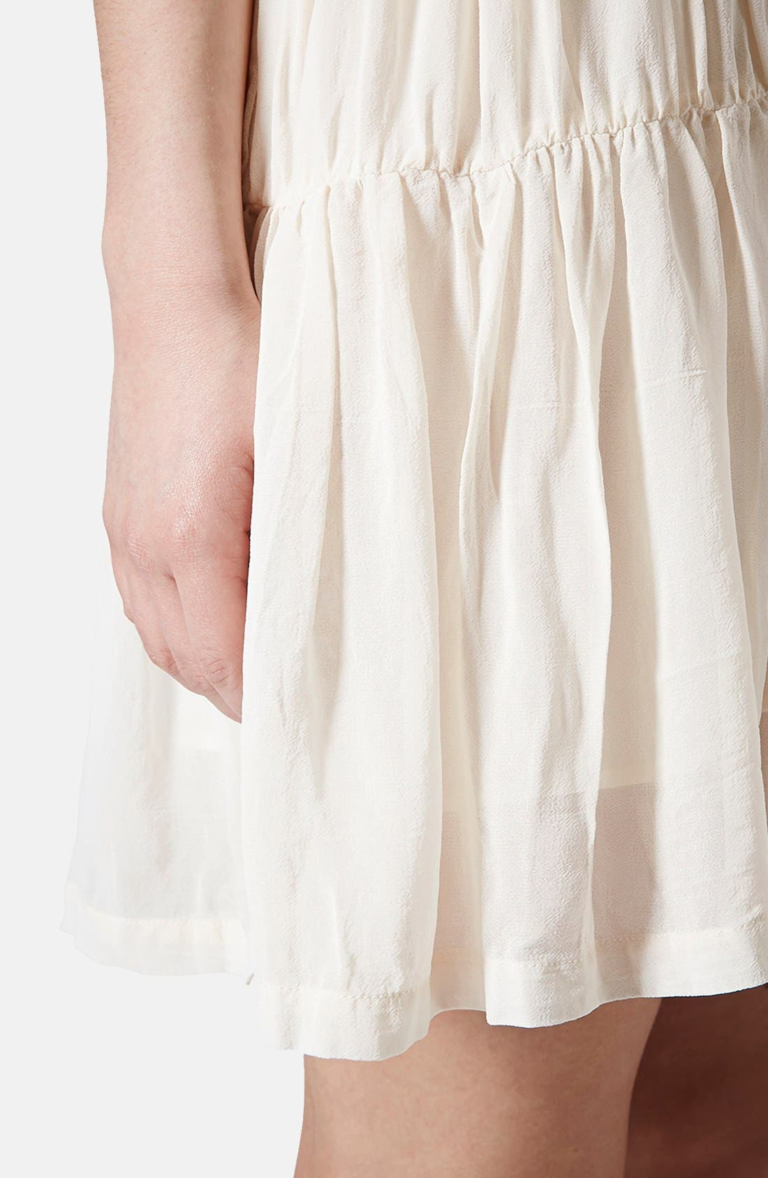 Alternate Image 4  - Topshop Chiffon Tiered Smock Dress