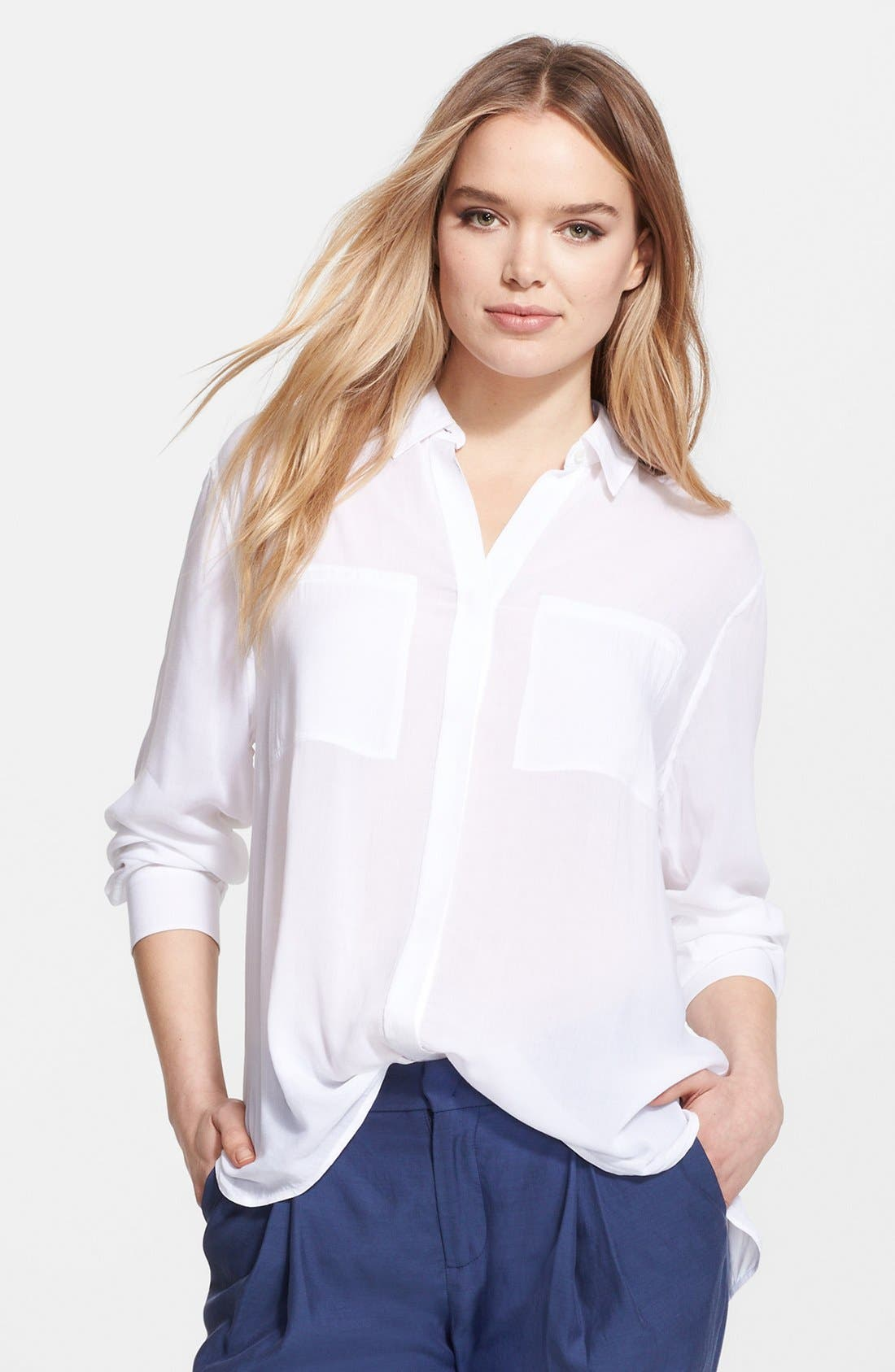 Main Image - Vince Long Sleeve Button Front Shirt