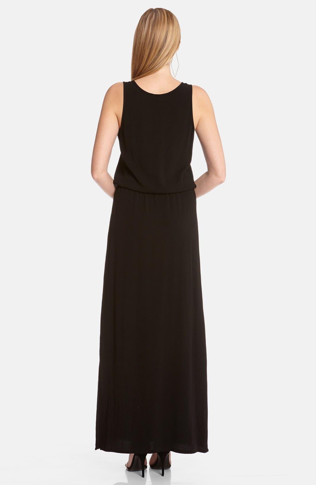 Alternate Image 2  - Karen Kane Drawstring Waist Maxi Dress