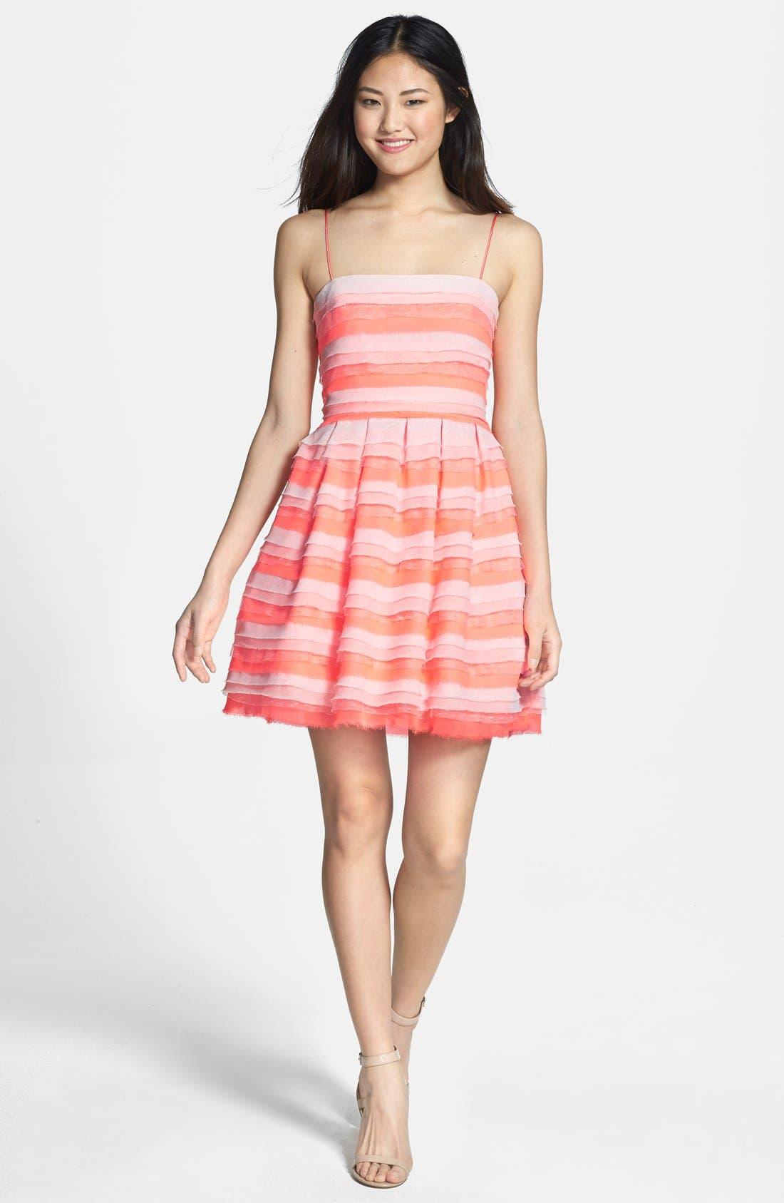 Alternate Image 3  - ERIN erin fetherston 'Azalea' Tiered Chiffon Fit & Flare Dress