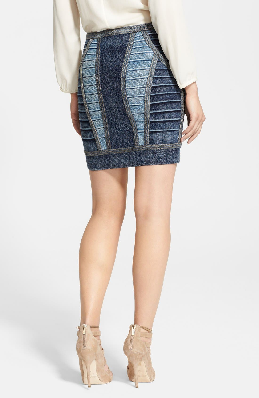 Alternate Image 2  - Herve Leger Fitted Bandage Miniskirt