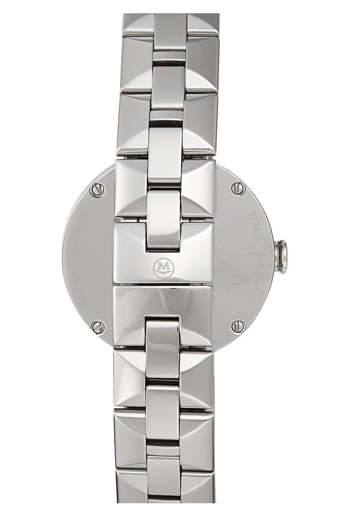 'Sapphire' Diamond Index Bracelet Watch, 28mm,                             Alternate thumbnail 2, color,                             Silver