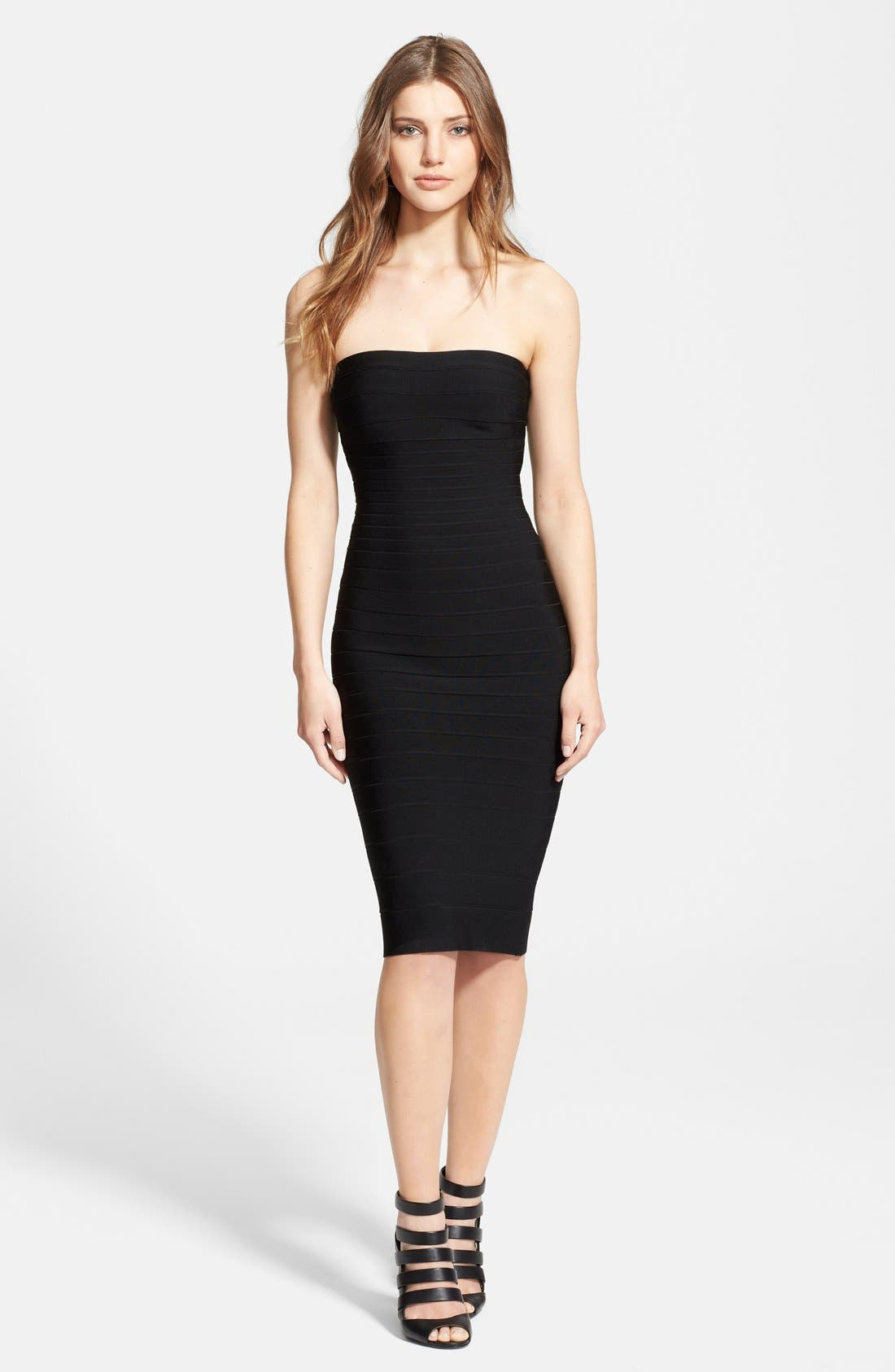 Main Image - Herve Leger Strapless Sheath Dress