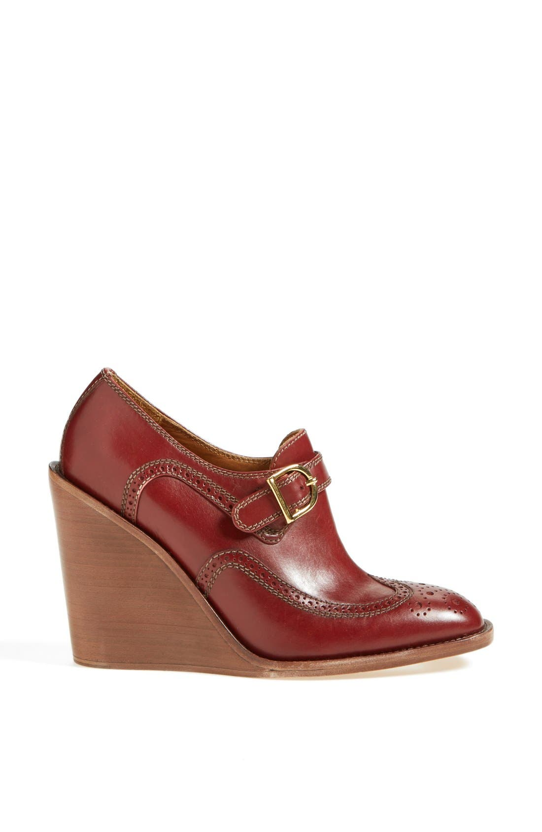 Alternate Image 4  - See by Chloé 'Ricki' Wingtip Wedge Bootie