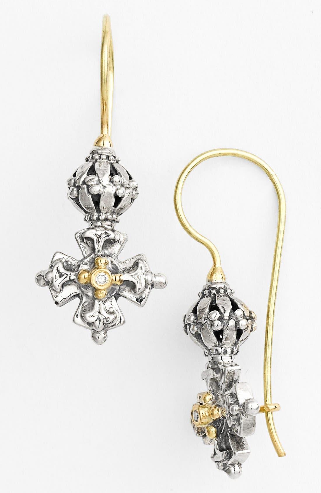 KONSTANTINO Classics Diamond Maltese Cross Drop Earrings