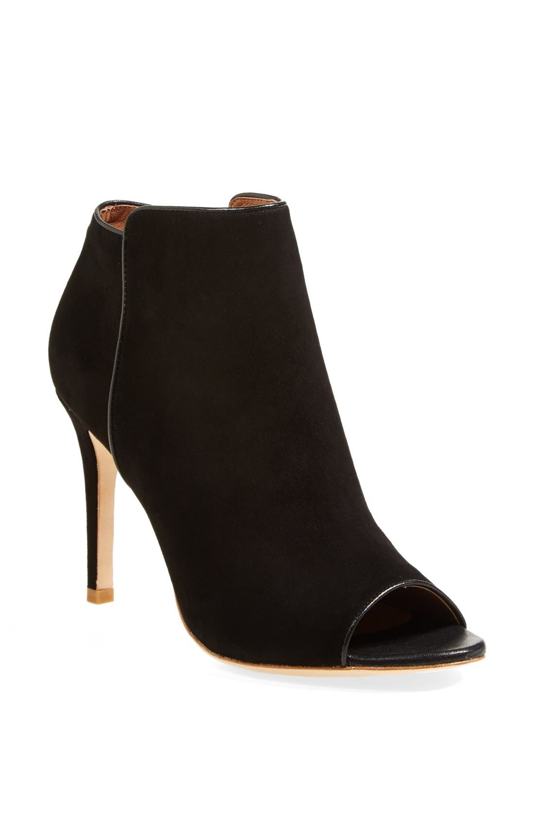 Main Image - Joie 'Gwen' Open Toe Suede Bootie (Nordstrom Exclusive) (Women)
