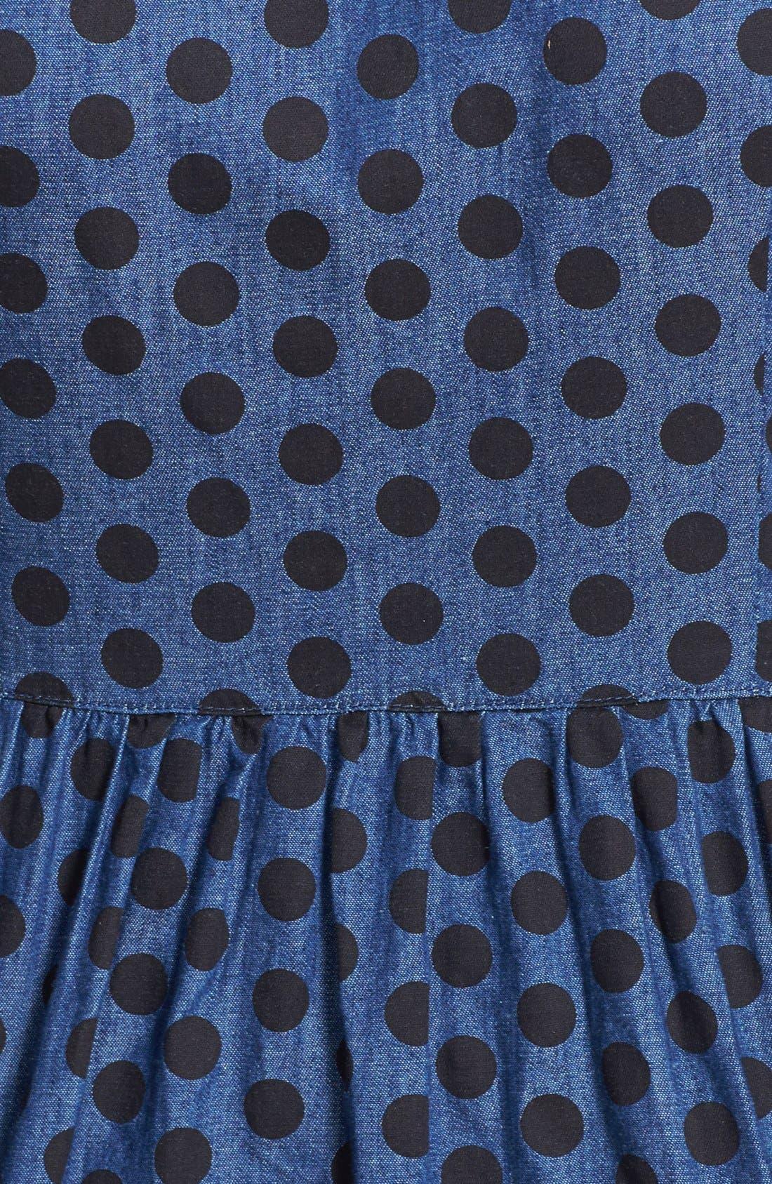 Alternate Image 3  - Dex Denim Dot Fit & Flare Dress