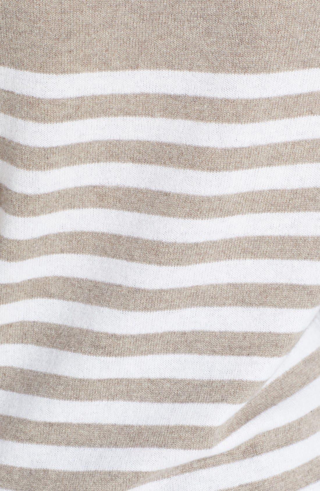 Alternate Image 3  - Halogen® Stripe Cashmere Sweater (Online Only)