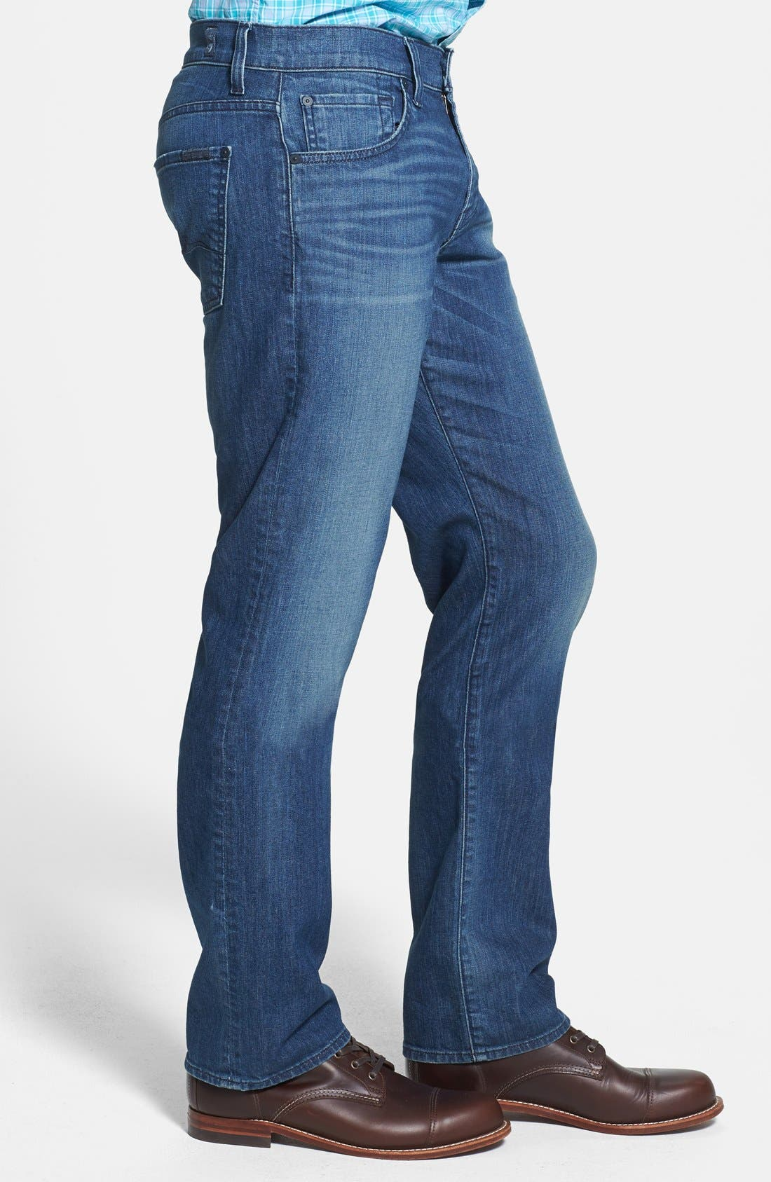 Alternate Image 3  - 7 For All Mankind® 'Carsen' Easy Straight Leg Jeans (Interbay Indigo)