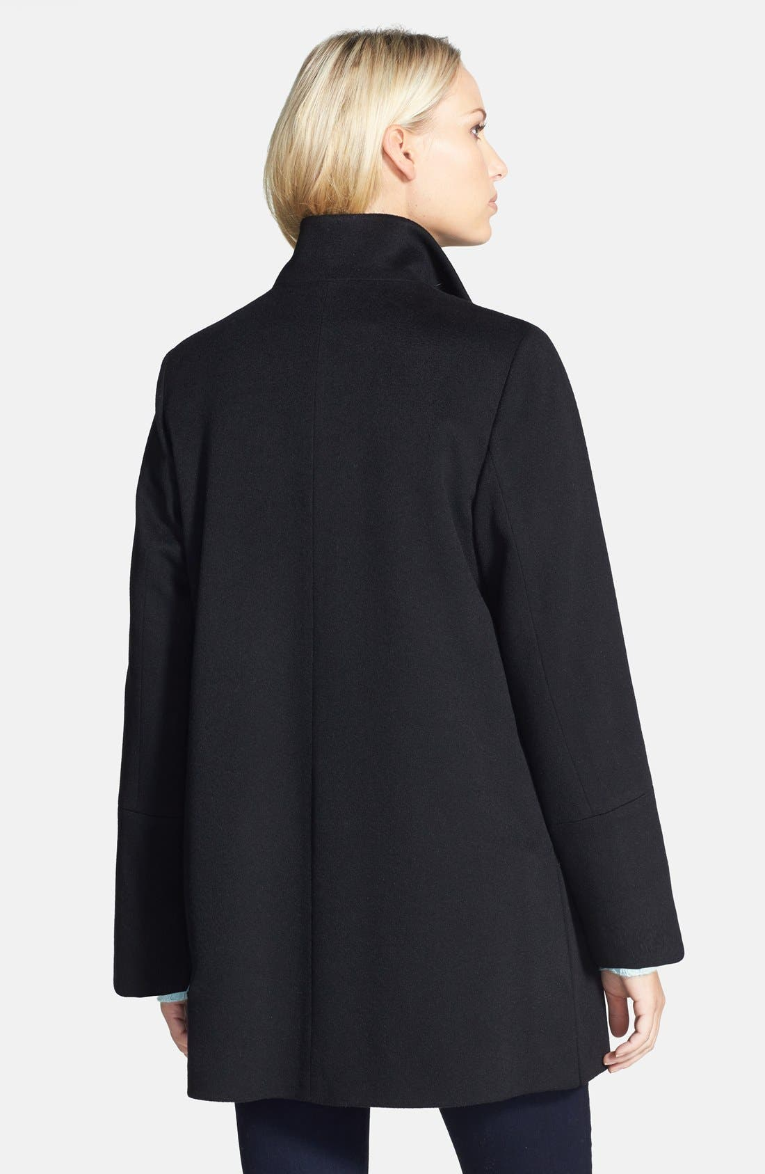 Alternate Image 2  - Fleurette Stand Collar Cashmere Coat